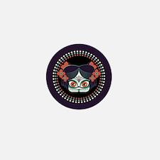 Calavera Girl Pin Mini Button