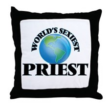 World's Sexiest Priest Throw Pillow