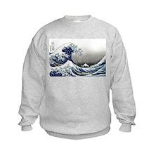 great wave of Kanagawa by hokusai Sweatshirt