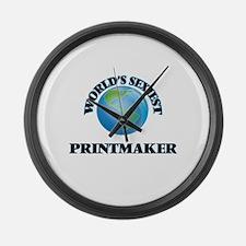 World's Sexiest Printmaker Large Wall Clock
