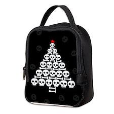 Skull Xmas Tree Neoprene Lunch Bag