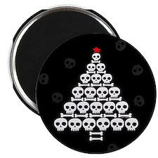 """Skull Xmas Tree 2.25"""" Magnet (10 pack)"""