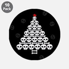 """Skull Xmas Tree 3.5"""" Button (10 pack)"""