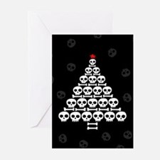 Skull Xmas Tree Greeting Cards (Pk of 10)
