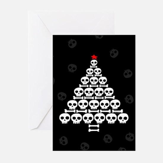 Skull Xmas Tree Greeting Cards (Pk of 10)