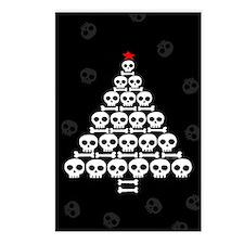 Skull Xmas Tree Postcards (Package of 8)