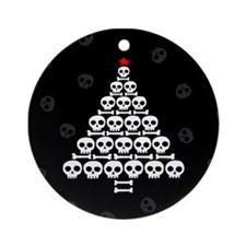 Skull Xmas Tree Ornament (Round)