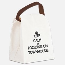 Keep Calm by focusing on Townhous Canvas Lunch Bag
