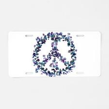 Harmony Flower Peace Aluminum License Plate