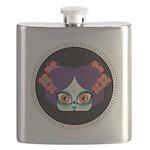 Calavera Girl Flask