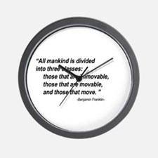 Benjamin Franklin 2 Wall Clock