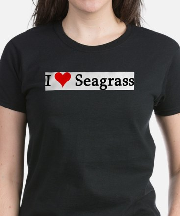 I Love Seagrass Ash Grey T-Shirt