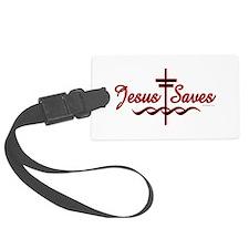 Jesus Saves Luggage Tag