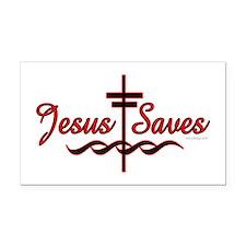 Jesus Saves Rectangle Car Magnet