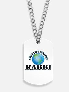 World's Sexiest Rabbi Dog Tags