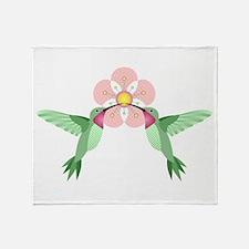Hummingbird Blossom Throw Blanket