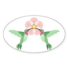 Hummingbird Blossom Decal
