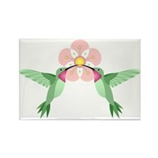 Hummingbird Blossom Rectangle Magnet