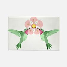 Hummingbird Blossom Rectangle Magnet