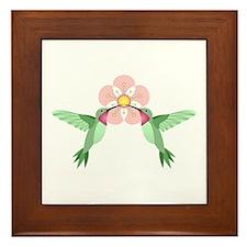 Hummingbird Blossom Framed Tile