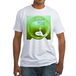A Circle Beginning Anywhere Fitted T-Shirt