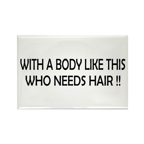 Who Needs Hair Rectangle Magnet (100 pack)