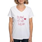 Friend of the Bride Women's V-Neck T-Shirt