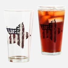 Patriotic Star: Drinking Glass