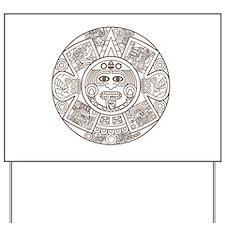 Mayan Circle Yard Sign