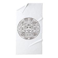 Mayan Circle Beach Towel