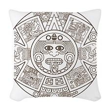 Mayan Circle Woven Throw Pillow