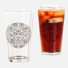 Mayan Circle Drinking Glass