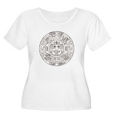 Mayan Circle Plus Size T-Shirt