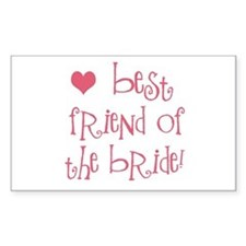 Best Friend of the Bride Rectangle Decal