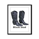 Yo Black Stud Framed Panel Print