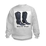 Yo Black Stud Kids Sweatshirt