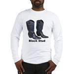 Yo Black Stud Long Sleeve T-Shirt