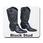 Yo Black Stud Mousepad