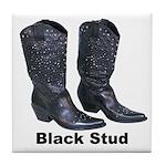 Yo Black Stud Tile Coaster