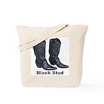 Yo Black Stud Tote Bag
