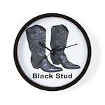 Yo Black Stud Wall Clock