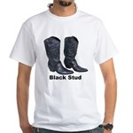 Yo Black Stud White T-Shirt