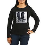 Yo Black Stud Women's Long Sleeve Dark T-Shirt