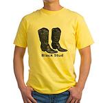 Yo Black Stud Yellow T-Shirt