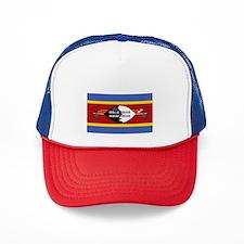 Swaziland Flag Trucker Hat