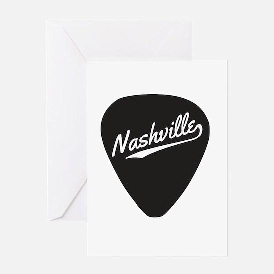 Nashville Guitar Pick Greeting Cards