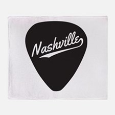 Nashville Guitar Pick Throw Blanket