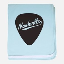 Nashville Guitar Pick baby blanket