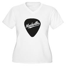 Nashville Guitar Pick Plus Size T-Shirt