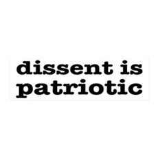 Dissent Is Patriotic Wall Decal